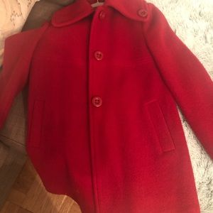 Larry Levine Wool Peacoat - Red - XS/S